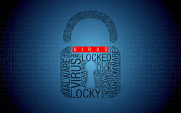 Ransomware No virus  Hacked Computer with Padlock Stock Photos