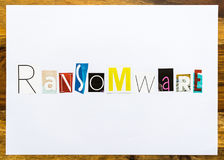 Ransomware - note on desk Royalty Free Stock Photography