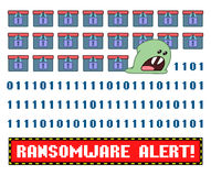 Ransomware virus encrypting the data wishing you pay criminals to decrypt Royalty Free Stock Photo