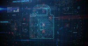 Ransomwareaanval: digitale veiligheid op risico 4k stock illustratie