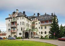 Rantasipi Imatran Valtionhotelli i Imatra finland arkivbild
