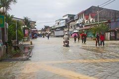 Rantau Panjang In Flood. A small town in Malaysia - Thai border, Rantau Panjang hits by flood. Heavy rains cause irregular flood in Rantau Panjang, Malaysia Royalty Free Stock Images