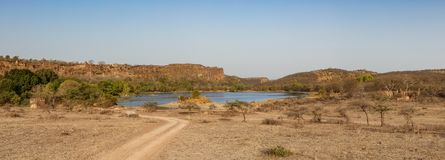 Ranthambhore national park in indian state of rajasthan stock photography