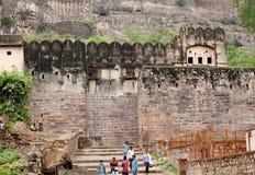 Ranthambore-Fort ist eine UNESCO-Welterbestätte innerhalb Ranthamb lizenzfreies stockbild