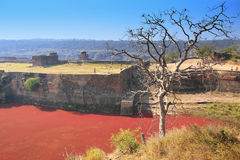 Ranthambore Fort and red lake, India Stock Photo