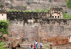 Ranthambore Fort is a UNESCO World Heritage Site inside Ranthamb Royalty Free Stock Image