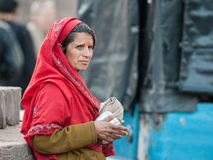 Rajasthani woman in Ranthambore stock photography