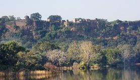 Ranthambore National Park. Scenery at the Ranthambore National Park in Rajasthan, India stock photo
