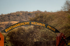 Ranthambore sign Stock Photography