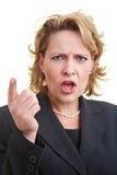 Ranting a la mujer de negocios Imagen de archivo