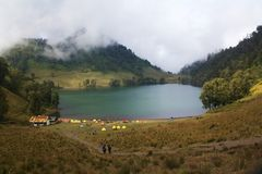 Ranu Kumbolo Lake Royalty Free Stock Image