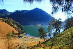 Ranu-kumbolo von semeru Berg stockbilder