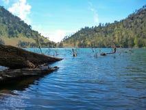 Ranukumbolo sjö East Java Indonesien Arkivbild