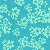 Ranunculus acris seamless. Seamless texture with buttercups. vector illustration Royalty Free Stock Image
