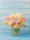 Ranunculus and tulips Royalty Free Stock Images