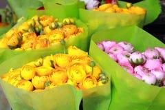Ranunculus voor verkoop Royalty-vrije Stock Afbeelding