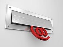 Ranura de correo Imágenes de archivo libres de regalías