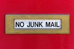 Ranura de correo basura Fotografía de archivo libre de regalías
