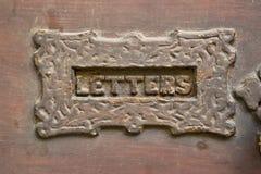 Ranura de Letterbox fotografía de archivo libre de regalías
