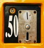 Ranura de moneda Fotografía de archivo libre de regalías