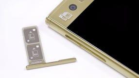 Ranura para tarjeta dual de SIM fotografía de archivo libre de regalías