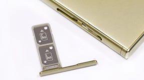 Ranura para tarjeta dual de SIM imagen de archivo