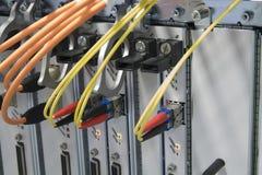 Ranurador con los cables de la red Imágenes de archivo libres de regalías