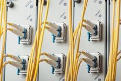 Ranurador del Internet en centro de datos Imagen de archivo libre de regalías