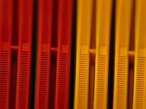 Ranuras del conector de la RAM Fotos de archivo