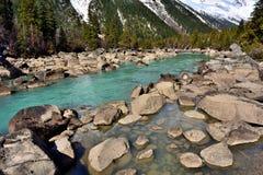 Ranwu河在西藏 免版税库存图片
