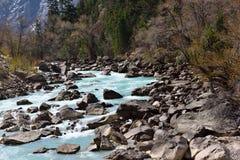 Ranwu flod i Tibet Fotografering för Bildbyråer