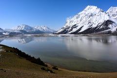 Ranwu lake in Tibet Snow mountain Royalty Free Stock Photos