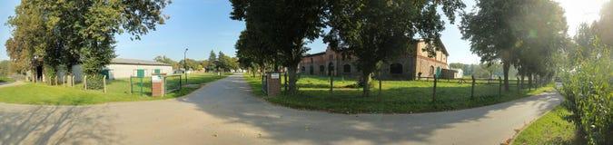 RANZIN, GERMANIA - 30 SETTEMBRE 2017: Entrata dei motivi storici dell'azienda agricola Fotografia Stock Libera da Diritti