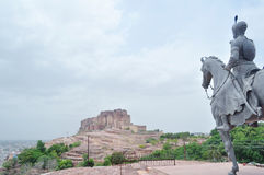 Rao Jodha and his fort Stock Image