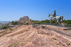 Rao Jodha statue Stock Photos