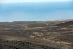 A raod to Playa de Cofete, Fuerteventura Stock Photo