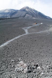 Raod to vulcano of mount Etna on Sicily Royalty Free Stock Photography