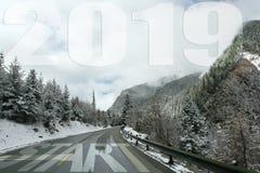 Raodbegin uw het levens nieuw jaar 2019 stock afbeeldingen