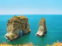 Raouchedistrict, Beiroet, Libanon, Midden-Oosten Stock Foto