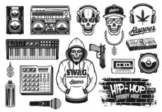 Free Rap And Hip Hop Music Attributes Vector Objects Stock Images - 141166924