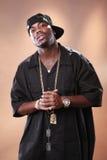 Rap artist Christopher Smith. Rapper attitude of a young African American Stock Photos