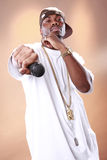 Rap artist Christopher Smith. Rapper attitude of a young African American Stock Images