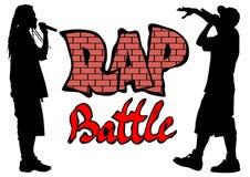 Rap bitwa trzy ilustracji
