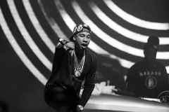 Rap concert of Tyga in Moscow Stock Photo