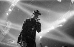 Rap concert of Tyga in Moscow Royalty Free Stock Photos