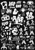 Rap doodles set Royalty Free Stock Photography