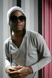 Rap joven del hombre negro del afroamericano Fotografía de archivo