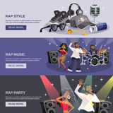 Rap Music Banner Royalty Free Stock Image