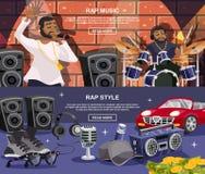 Rap Music Banner Set Stock Photography