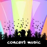 Rap Music Concert Crowd Waving Hands Stock Photos